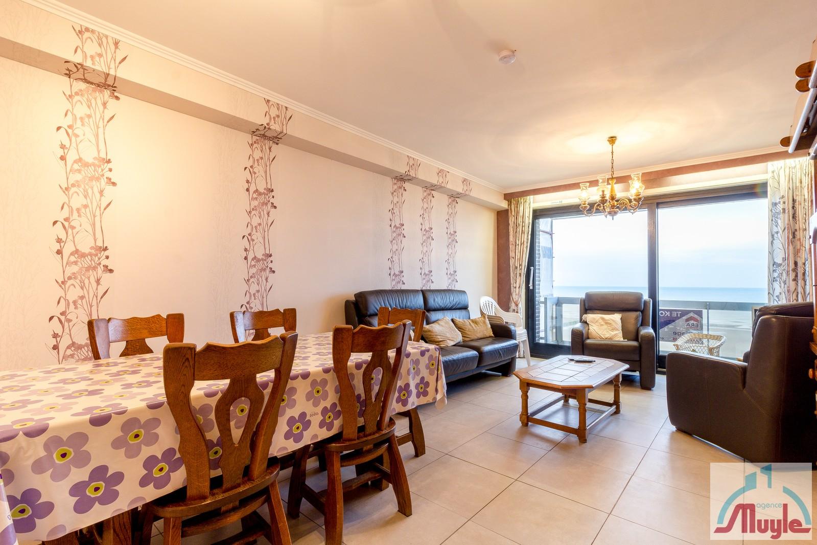 Ruim (>70m²) 2-kamer appartement met frontaal zeezicht