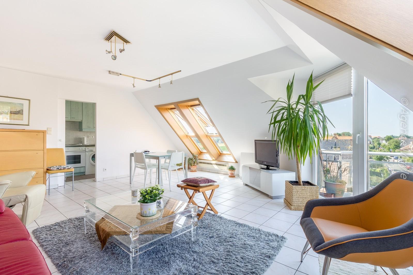 Riant penthouse - duplex met 2 kamers en zonnig terras